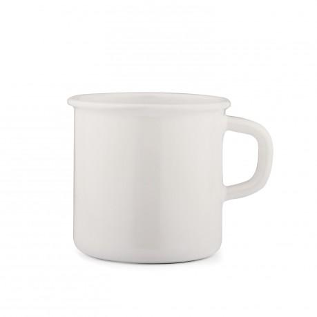 Mug / Tasse en émail blanc