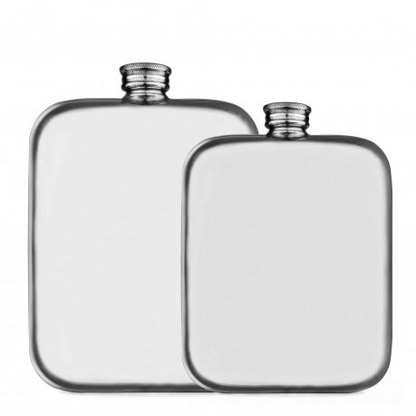 Flasque en étain carrée