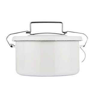 Lunch box émail blanc 1L