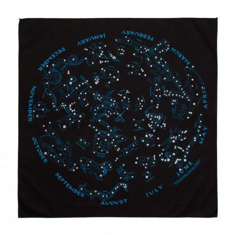 Bandana fluorescent carte des constellations