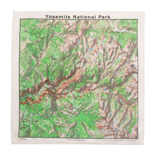 Bandana carte Yosemite National Park topographie