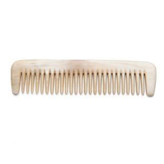 Petit peigne à cheveux en corne blanche